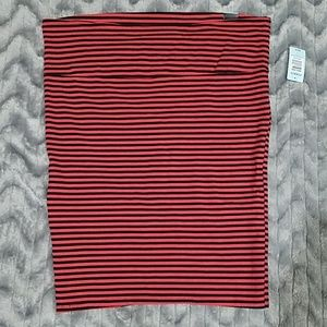 Torrid Red Black Striped Knit Pencil Skirt Size 2